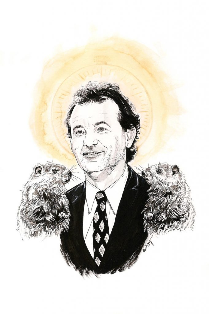 Bill Murray in GROUNDHOG DAY | art by Brianna Ashby