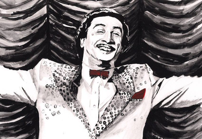 Robert De Niro in THE KING OF COMEDY | art by Brianna Ashby
