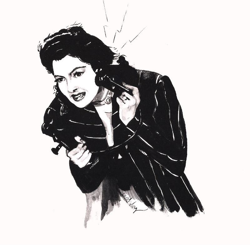 His Girl Friday (1940)   art by Brianna Ashby