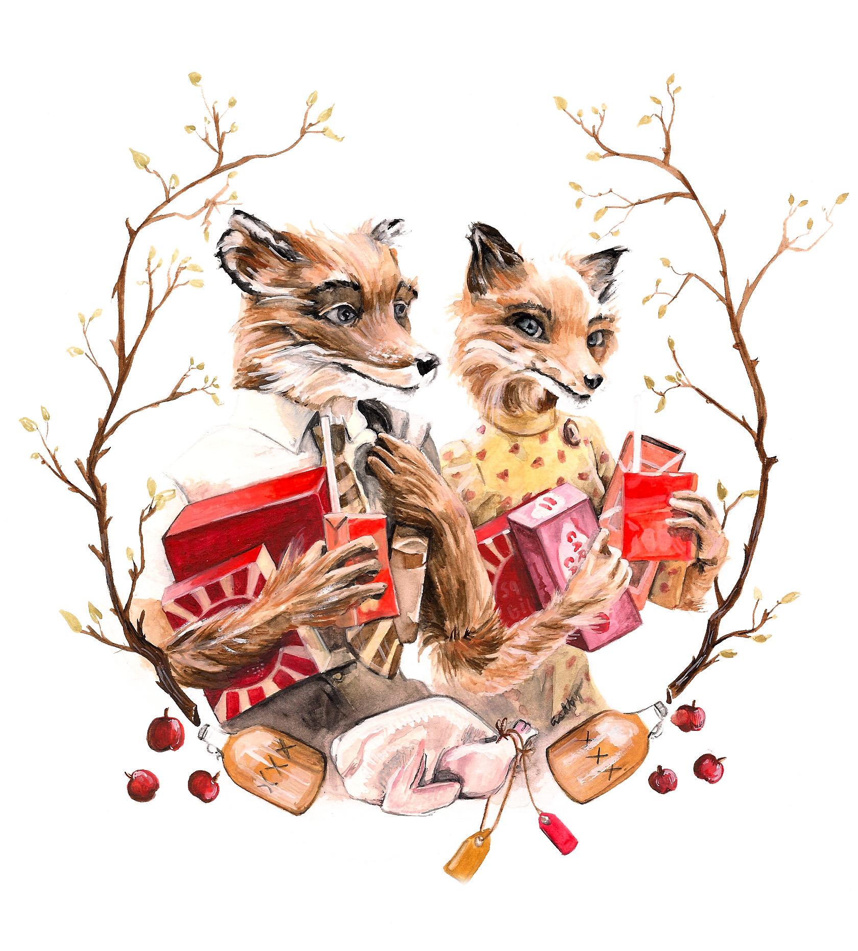 Fantastic Mr. Fox   art by Brianna Ashby