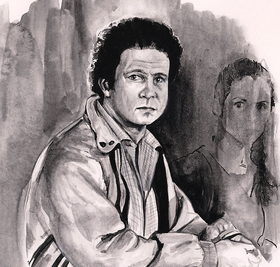 Albert Brooks in LOST IN AMERICA (1985)   art by Brianna Ashby