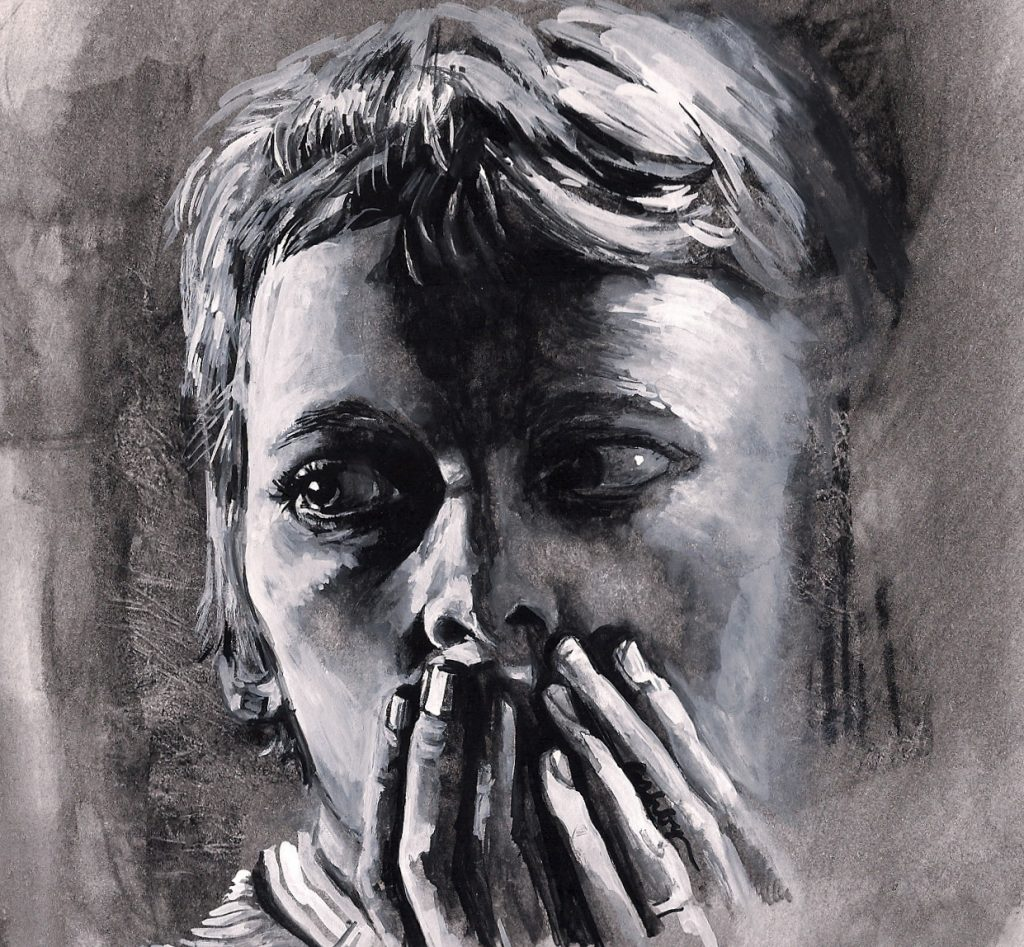 Mia Farrow in Rosemary's Baby | art by Brianna Ashby