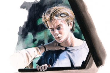River Phoenix in 'Running on Empty'   art by Brianna Ashby