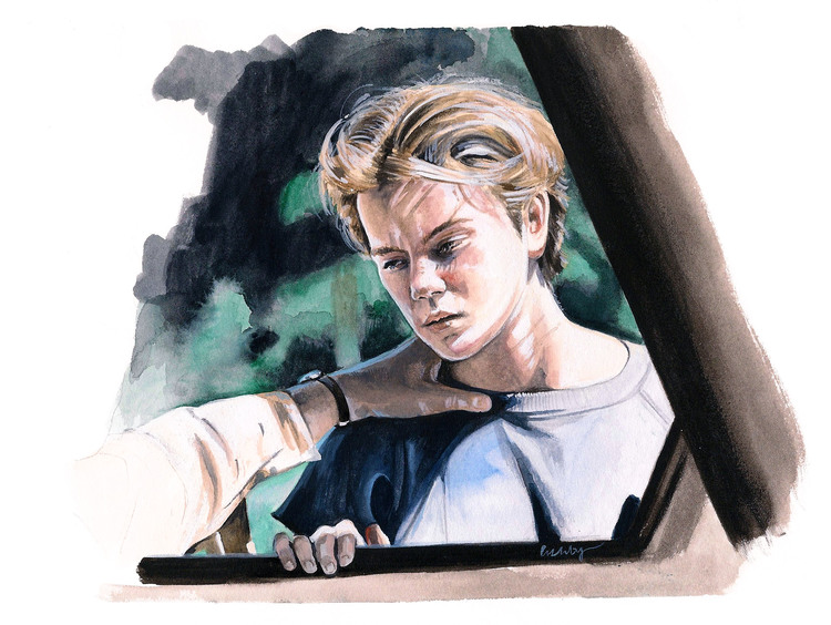 River Phoenix in 'Running on Empty' | art by Brianna Ashby
