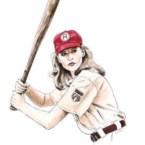 Geena Davis in A League of Their Own | art by Brianna Ashby