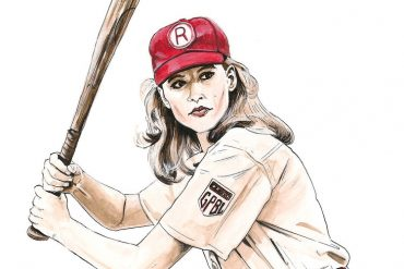 Geena Davis in A League of Their Own | art by Brianna Ashby