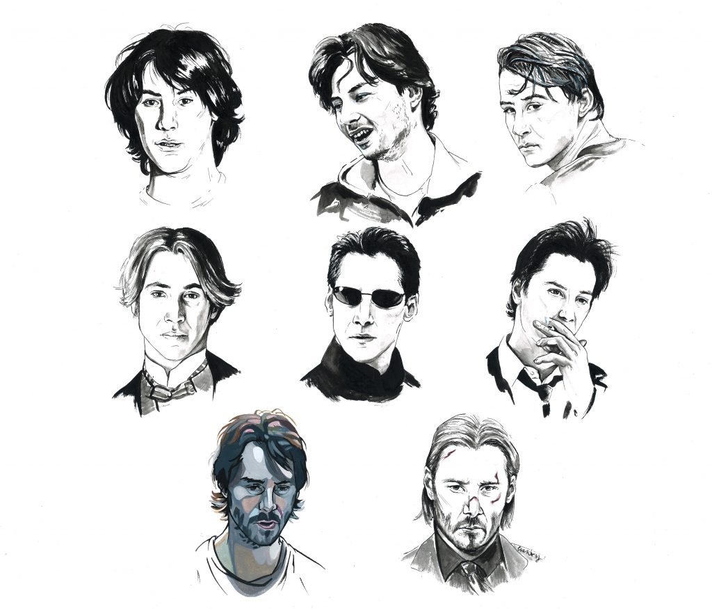The Grace of Keanu Reeves | art by Brianna Ashby