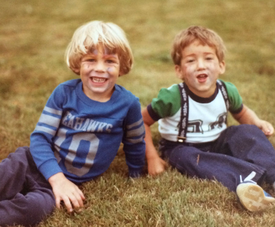 The author and his best friend, Matt, at age 4.