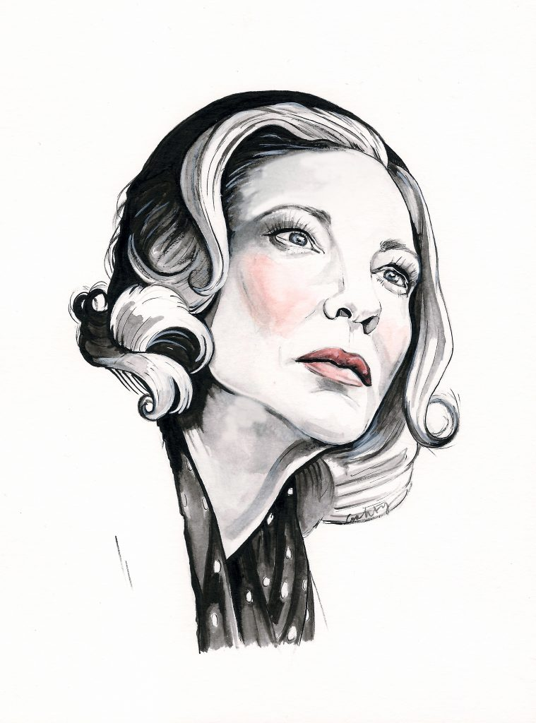 Cate Blanchett in Carol (2015) | art by Brianna Ashby