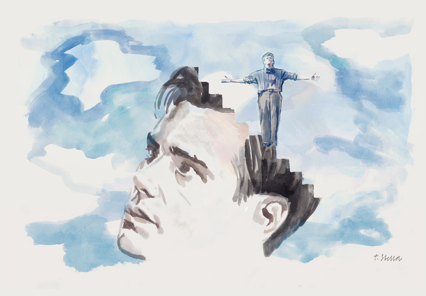 Jim Carrey in THE TRUMAN SHOW | art by Tony Stella