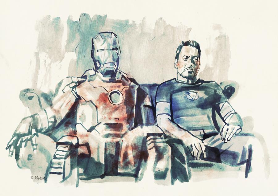Iron Man 3   art by Tony Stella