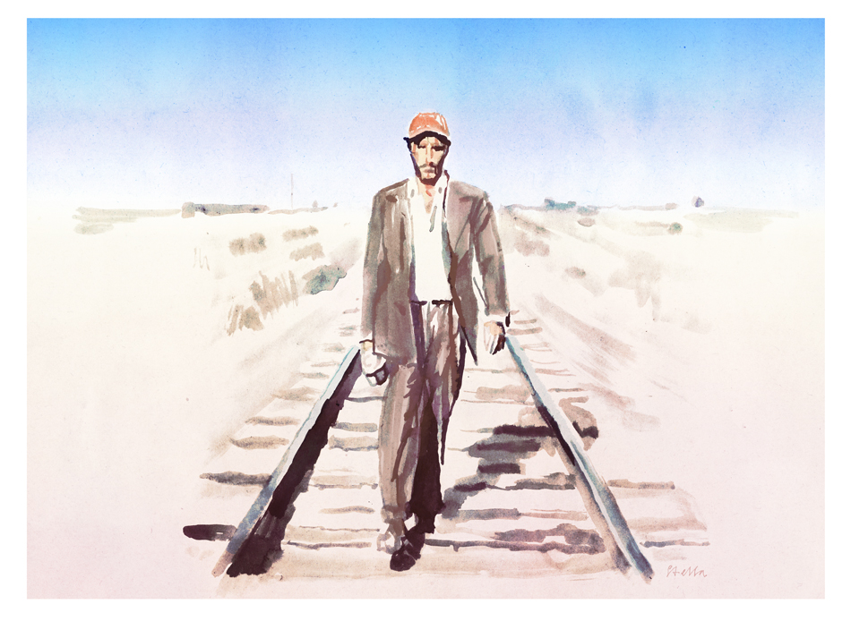 Harry Dean Stanton in Paris, Texas | art by Tony Stella
