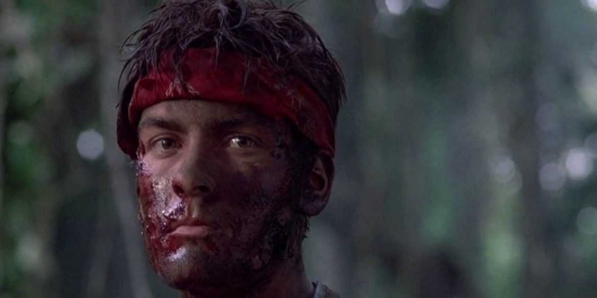 "Charlie Sheen, in Oliver Stones ""Platoon"""
