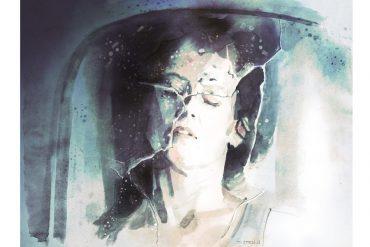 Sigourney Weaver in ALIEN 3   artwork by Tony Stella