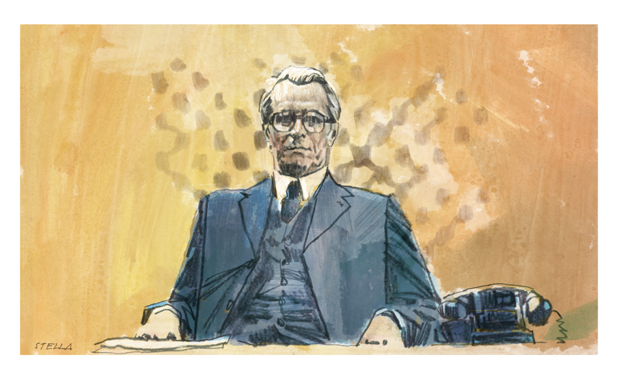Gary Oldman in 'Tinker Tailor Soldier Spy' | art by Tony Stella