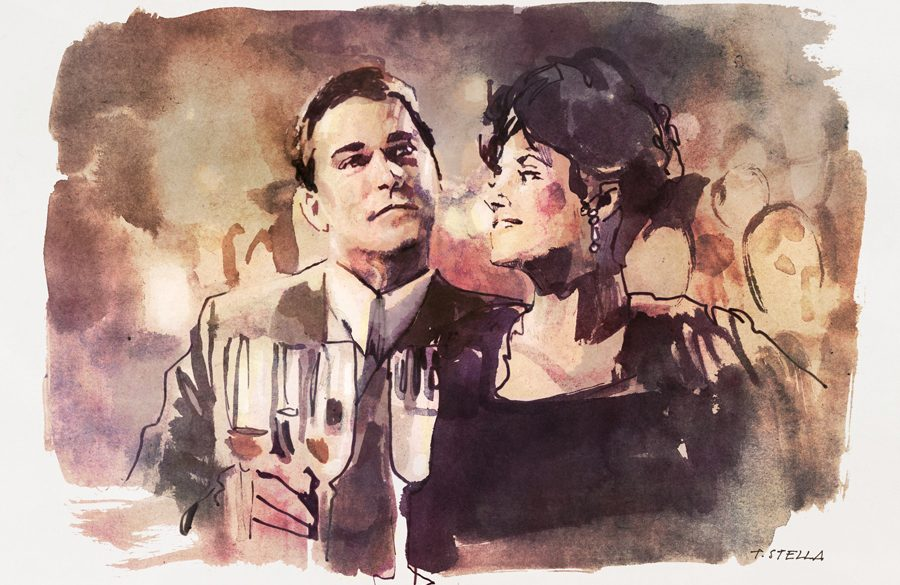 Ray Liotta and Lorraine Bracco in GOODFELLAS | art by Tony Stella