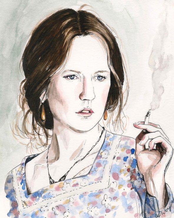 Nicole Kidman as Virginia Woolf in THE HOURS (2002) | art by Brianna Ashby