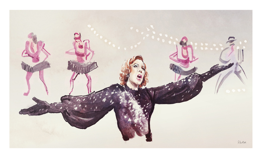 Julie Andrews in Star! | art by Tony Stella