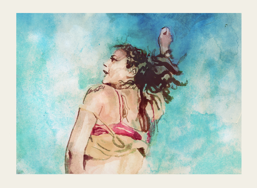Sasha Lane in AMERICAN HONEY | art by Tony Stella