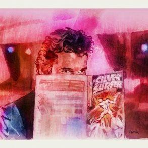 Richard Gere in Breathless (1983) | art by Tony Stella