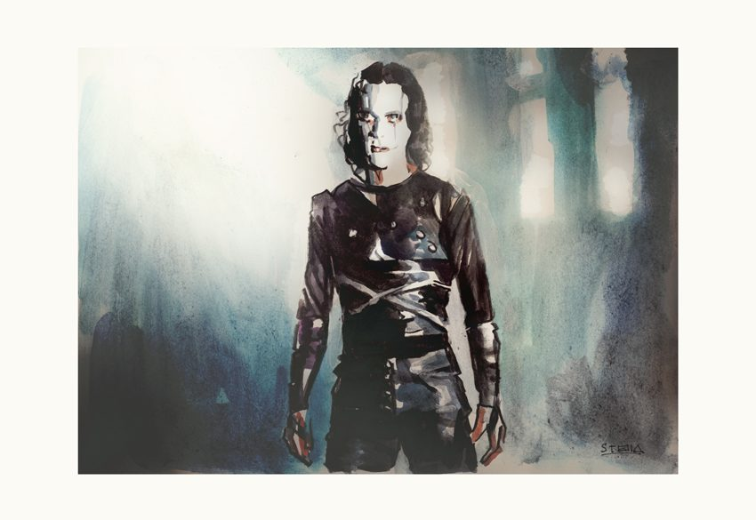 Brandon Lee in 'The Crow' | art by Tony Stella
