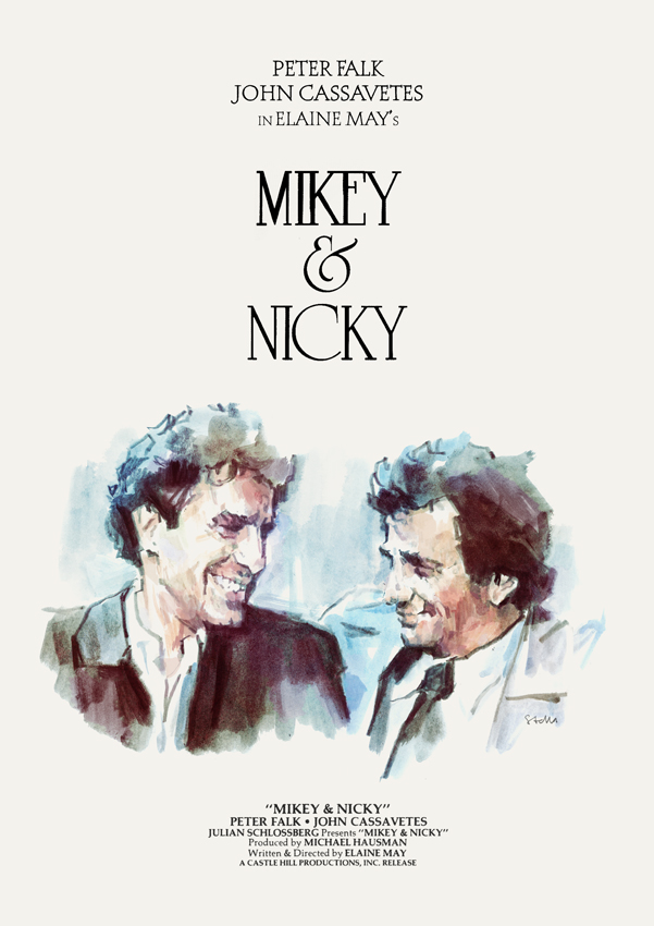 Elaine May's MIKEY AND NICKY (1976) | original poster by Tony Stella