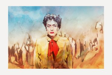 Joan Crawford in JOHNNY GUITAR (1954) | artwork by Tony Stella