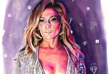 Jennifer Lopez in Hustlers (2019)   art by Brianna Ashby
