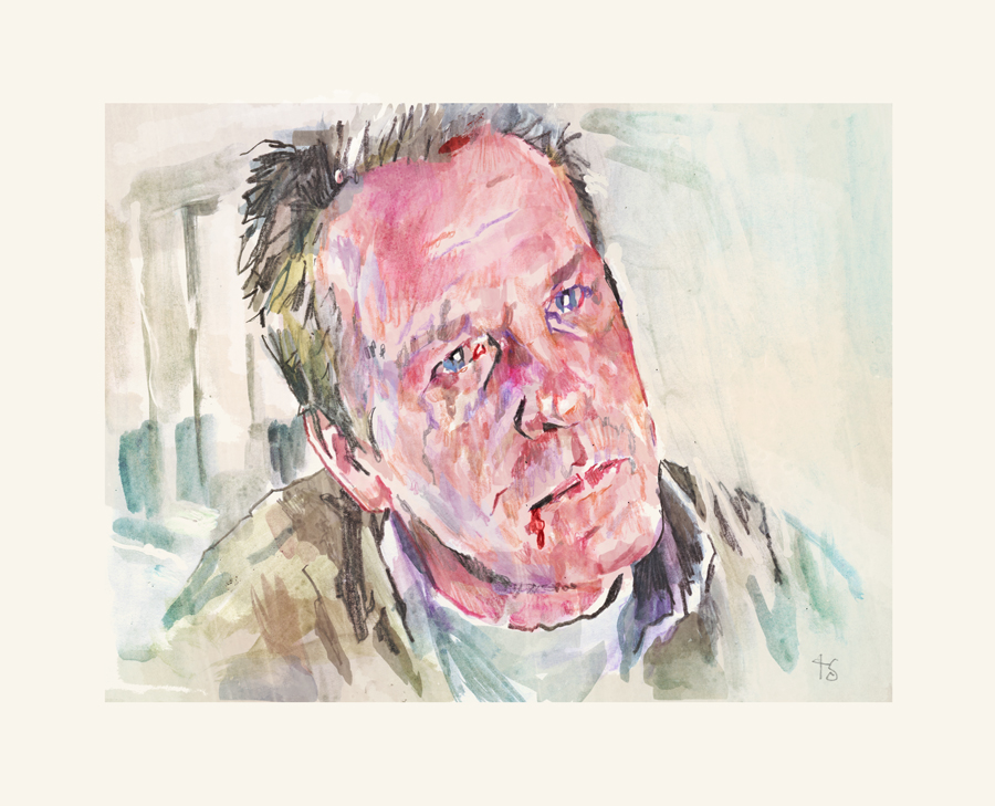 Nick Nolte in Affliction   art by Tony Stella