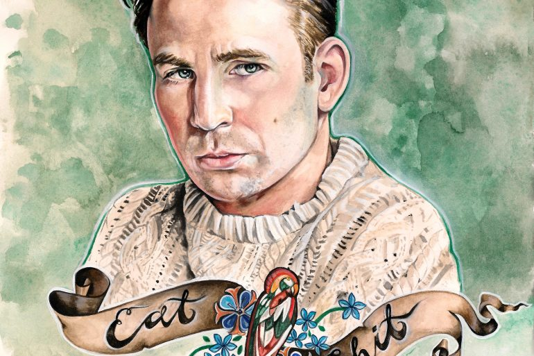 Chris Pine in KNIVES OUT   art by Brianna Ashby