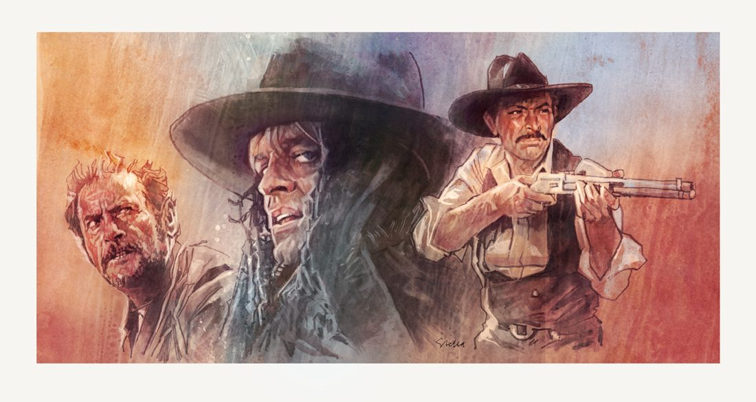 Spaghetti westerns | art by Tony Stella