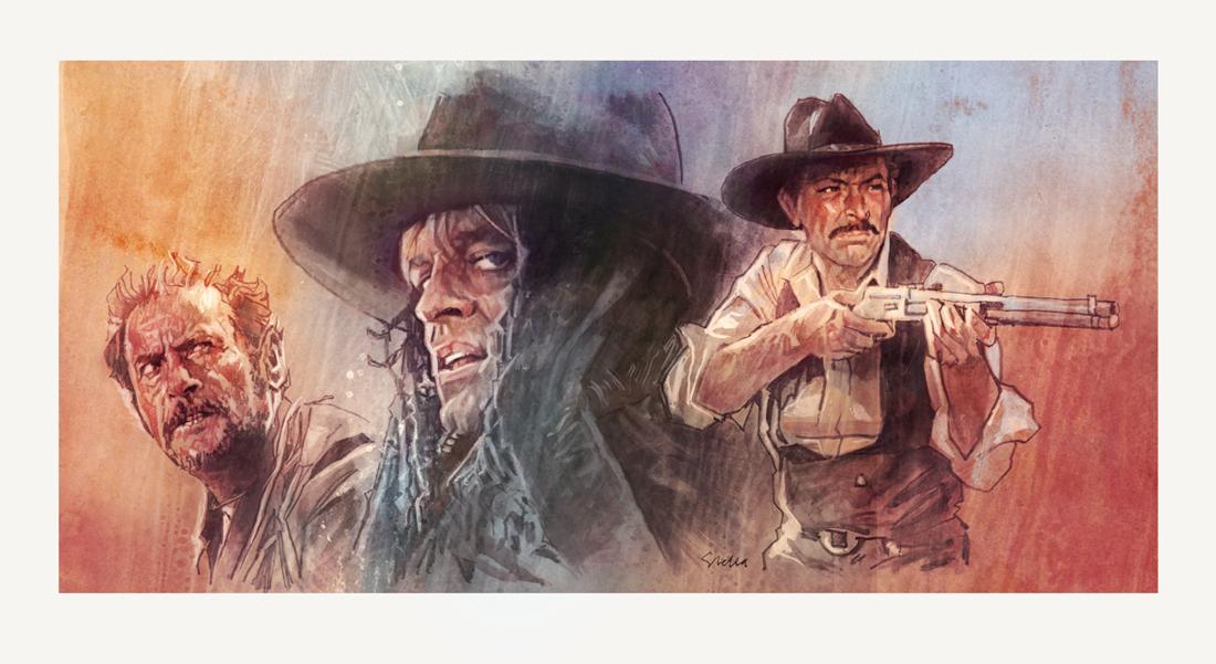 Spaghetti westerns | art by Tony Stella