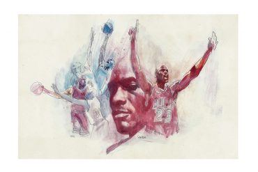 Michael Jordan 'The Last Dance' | art by Tony Stella