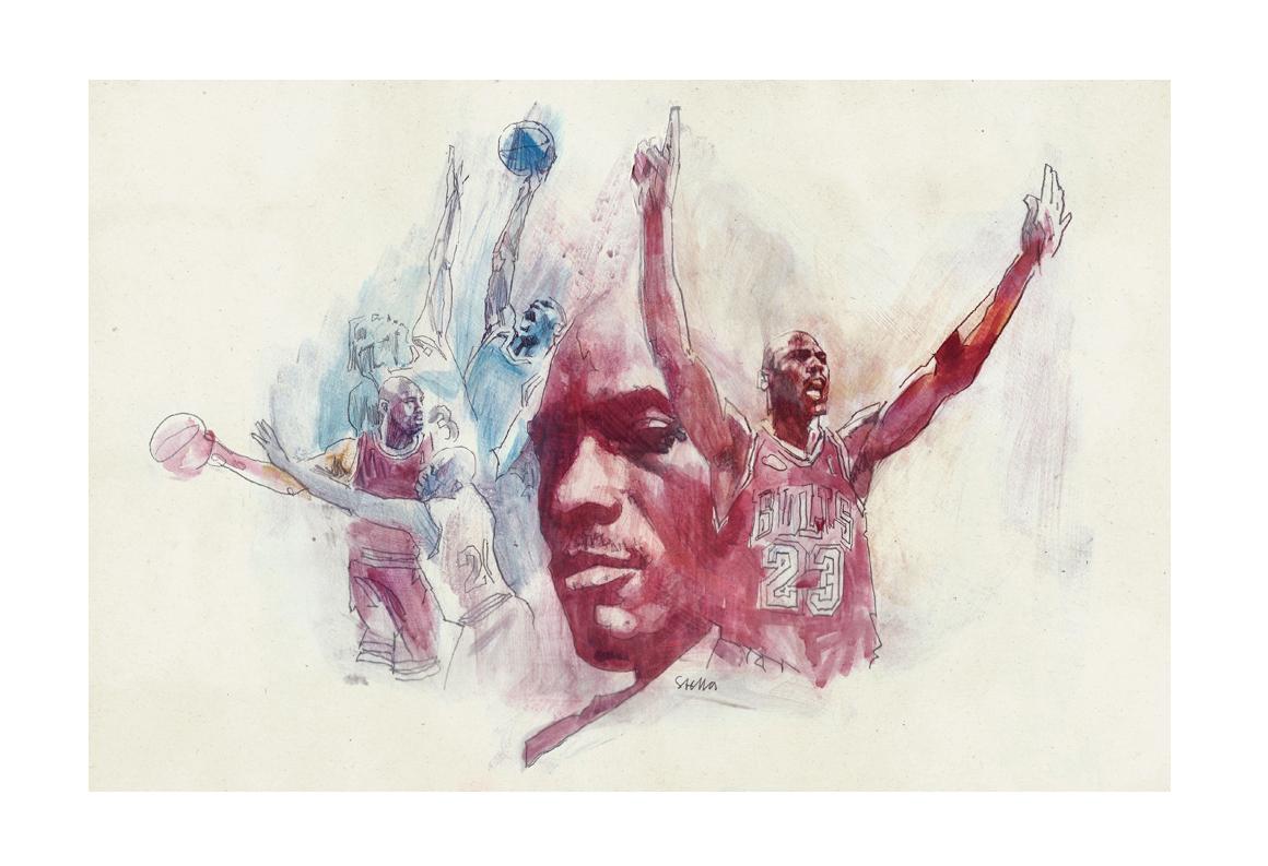 Michael Jordan 'The Last Dance' | art by Tony Stella