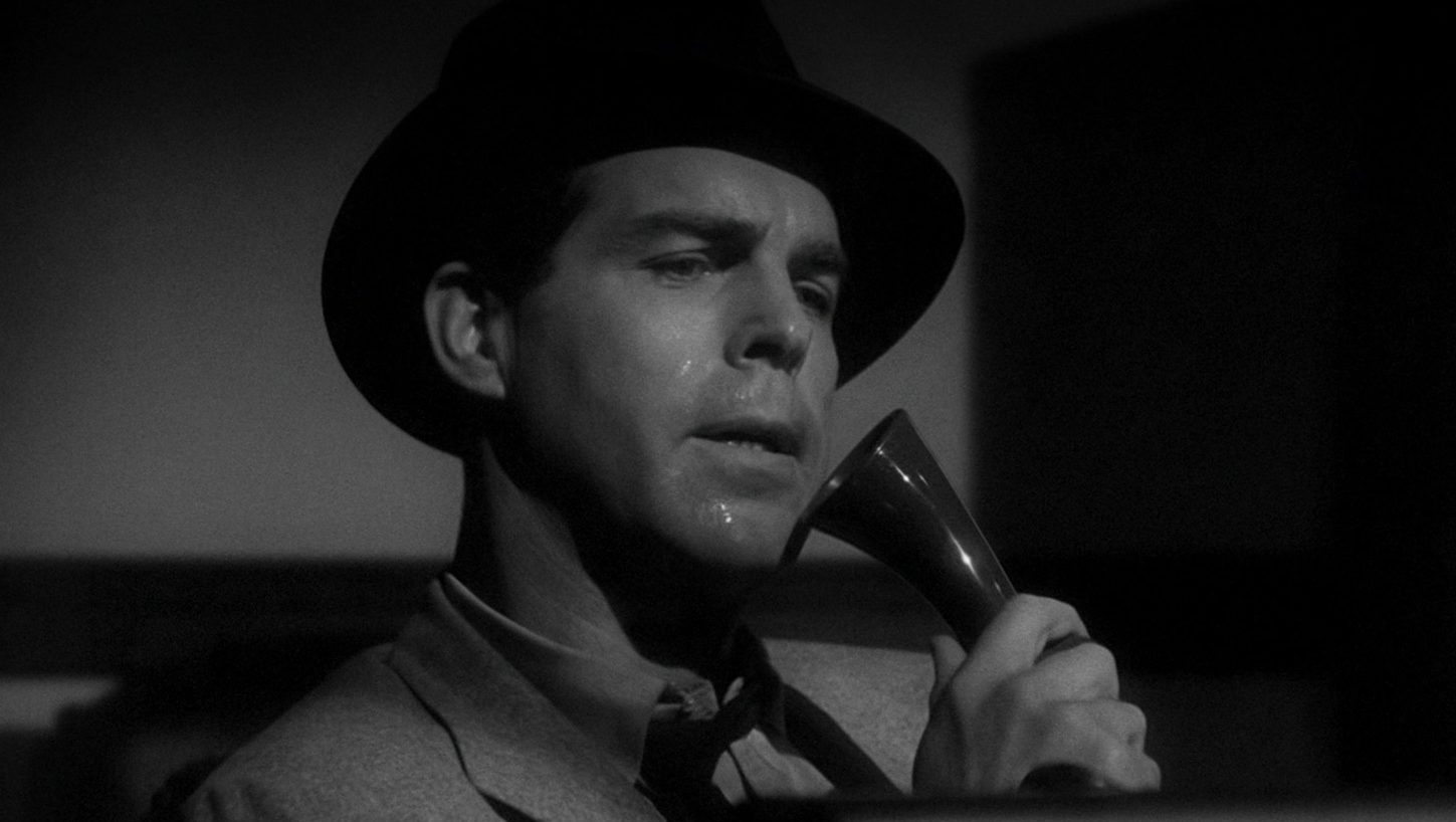 Fred MacMurray as Walter Neff in Double Indemnity