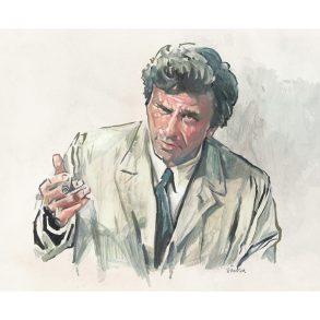 Peter Falk as Columbo | art by Tony Stella