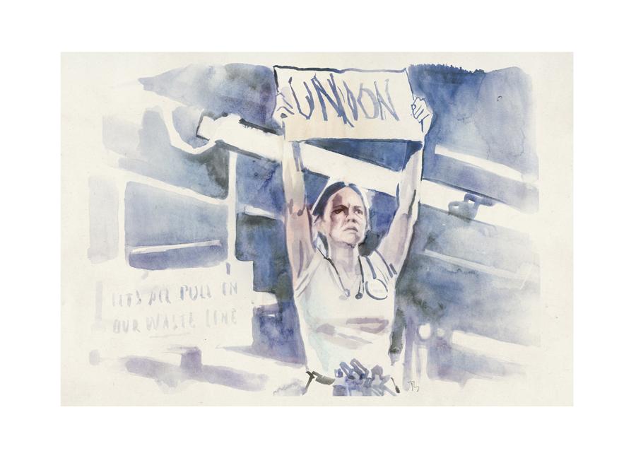 Sally Field in Norma Rae (1979) | art by Tony Stella