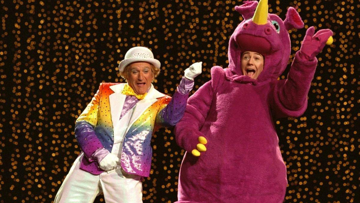 Robin Williams and Edward Norton in Death to Smoochy
