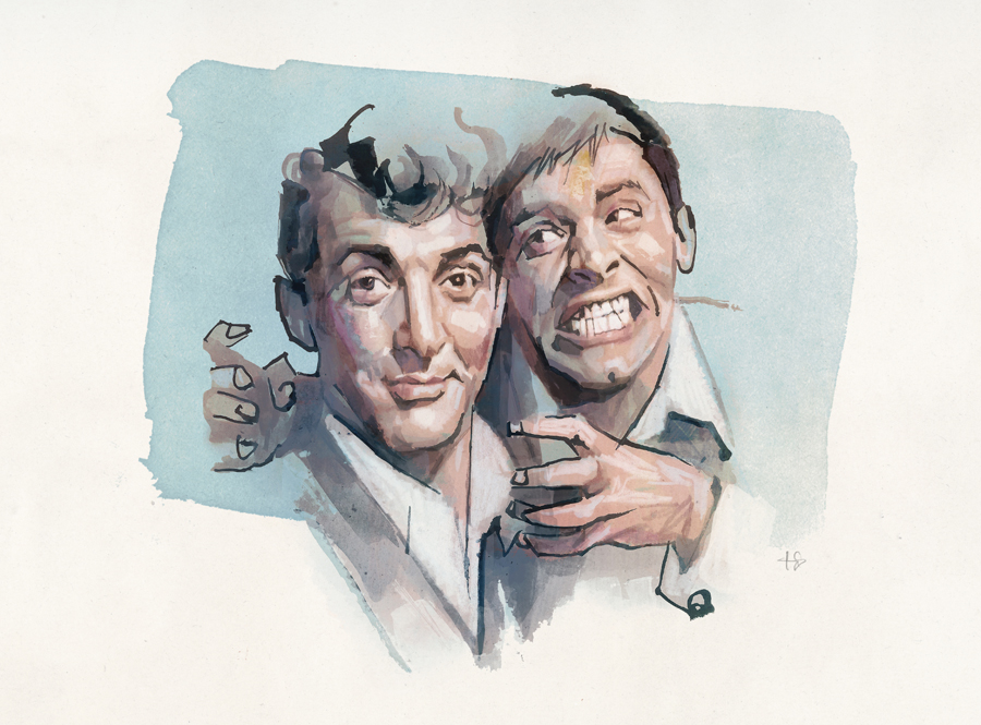 Martin & Lewis | art by Tony Stella