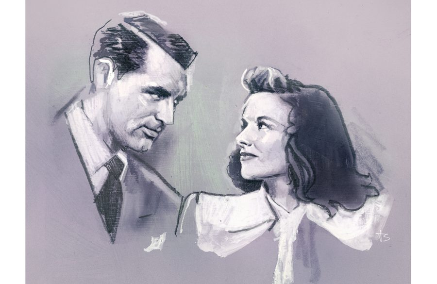 Cary Grant & Katharine Hepburn | Art by Tony Stella