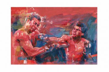 Foreman & Ali in 'When We Were Kings' | Art by Tony Stella
