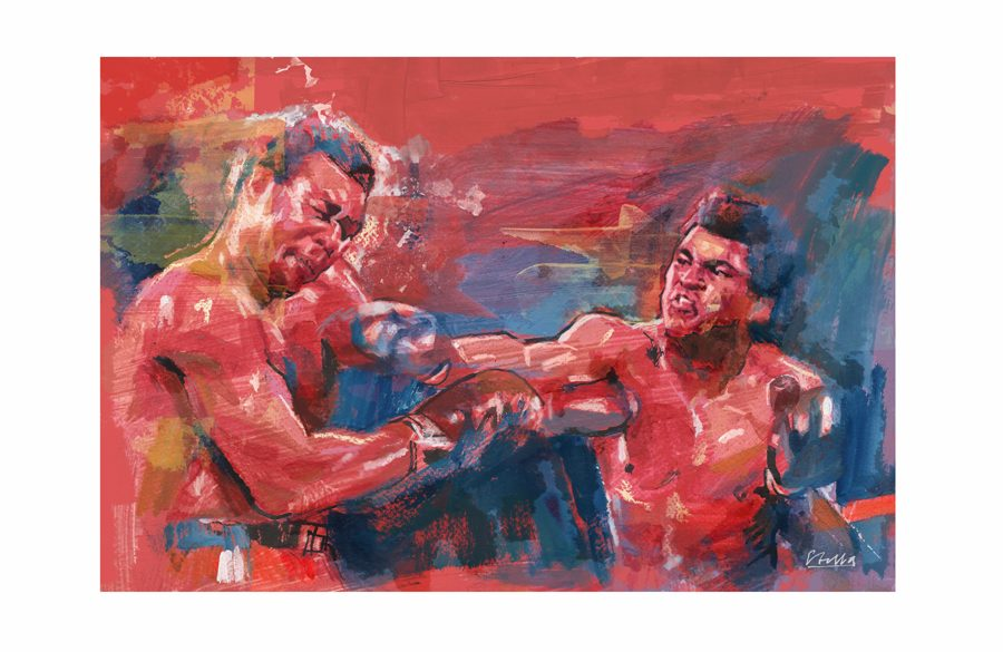 Foreman & Ali in 'When We Were Kings' | Art by Tony Stella