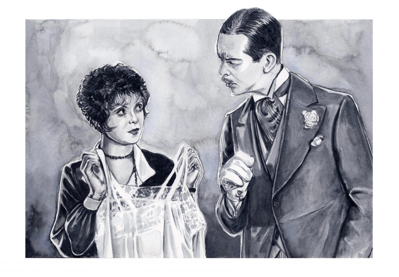 Clara Bow in 'It' (1927) | art by Vanessa McKee